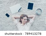 top view photo of relaxed... | Shutterstock . vector #789413278