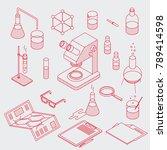 isometric chemical laboratory... | Shutterstock .eps vector #789414598