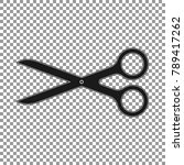scissors flat icon on the... | Shutterstock .eps vector #789417262
