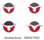 bull vector icon | Shutterstock .eps vector #789417502