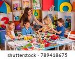 kids playroom organization of... | Shutterstock . vector #789418675