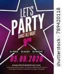 lets party design poster. night ... | Shutterstock .eps vector #789420118