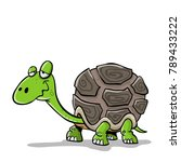 lazy turtle smiling   Shutterstock .eps vector #789433222