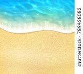ocean beach wave on sand or sea ...   Shutterstock .eps vector #789438082