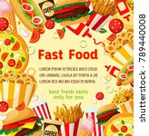 fast food menu poster template... | Shutterstock .eps vector #789440008