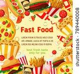 fast food menu poster template... | Shutterstock .eps vector #789440008