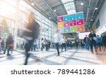 blurred people in a modern hall | Shutterstock . vector #789441286