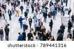 crowd of anonymous people... | Shutterstock . vector #789441316