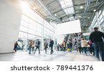 blurred people at a trade show  ... | Shutterstock . vector #789441376