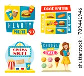 fast food posters for cinema... | Shutterstock .eps vector #789441946