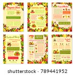 exotic fruits posters or... | Shutterstock .eps vector #789441952