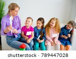 teacher in kindergarten | Shutterstock . vector #789447028