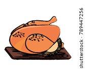 roast chicken design | Shutterstock .eps vector #789447256