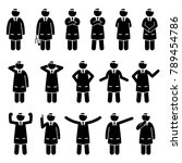 basic doctor poses and postures.... | Shutterstock .eps vector #789454786