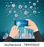 smart industry 4.0  automation... | Shutterstock .eps vector #789455632