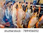 river shrimp or river prawn... | Shutterstock . vector #789456052