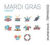 mardi gras carnival celebration ... | Shutterstock .eps vector #789456532