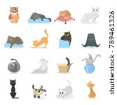 Funny Cats Set. Cartoon Pets...