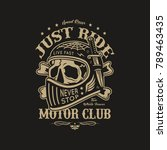 motorcycle club illustration | Shutterstock .eps vector #789463435
