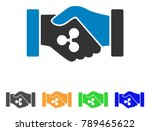 ripple contract hands icon.... | Shutterstock .eps vector #789465622