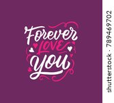 lettering   typography design... | Shutterstock .eps vector #789469702