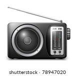 retro radio  vector | Shutterstock .eps vector #78947020