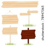 set wooden sign vector | Shutterstock .eps vector #78947365