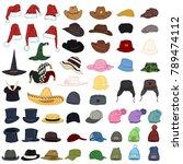 vector big set of cartoon color ... | Shutterstock .eps vector #789474112