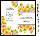 romantic invitation. wedding ... | Shutterstock . vector #789475708