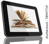 book and tablet computer 3d...   Shutterstock . vector #78947719