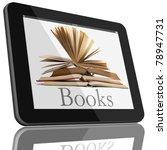 book and tablet computer 3d...   Shutterstock . vector #78947731