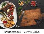 restaurant dish background.... | Shutterstock . vector #789482866