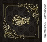 gold frame made in vector.... | Shutterstock .eps vector #789482902