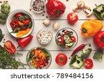 heap of fresh organic tasty... | Shutterstock . vector #789484156