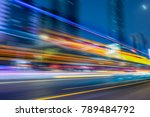 vehicle light trails at city... | Shutterstock . vector #789484792
