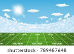 american football arena field... | Shutterstock .eps vector #789487648