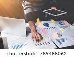 business man holding  digital... | Shutterstock . vector #789488062