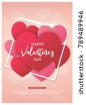 valentines day background with... | Shutterstock .eps vector #789489946
