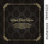 gold frame made in vector.... | Shutterstock .eps vector #789493225