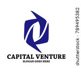 blue capital logo   Shutterstock .eps vector #789495382