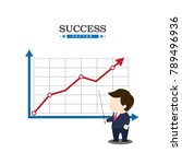 businessman points to the wall...   Shutterstock .eps vector #789496936