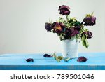 still life with red rose on... | Shutterstock . vector #789501046