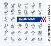 barber shop elements   minimal... | Shutterstock .eps vector #789502078