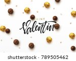 saint valentin day.. on... | Shutterstock .eps vector #789505462