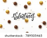 happy valentines day. on... | Shutterstock .eps vector #789505465