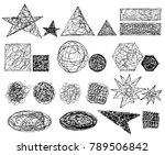 set of black and white grungy...   Shutterstock .eps vector #789506842