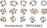 cartoon sheep ready for... | Shutterstock .eps vector #789516862