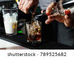 bartender is making cocktail at ... | Shutterstock . vector #789525682