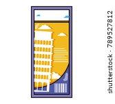 leaning tower of pisa ticket...   Shutterstock .eps vector #789527812
