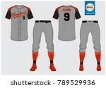 baseball jersey  sport uniform  ... | Shutterstock .eps vector #789529936